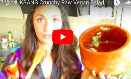 Crunchy Spring Salad Mukbang with Tsetsi. Цеци Яде Пролетна Веган Салата from Tsetsi on Vimeo.